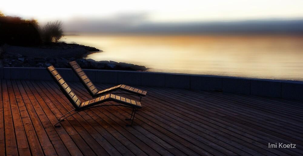 Sunset........The Deckchairs at Lake Geneva..........France by Imi Koetz