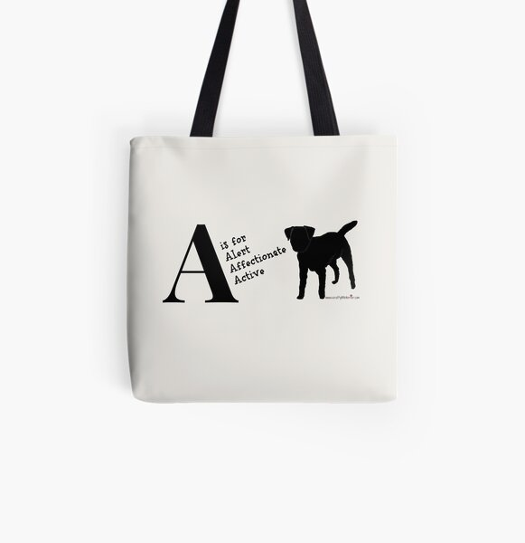 Personalised Border Terrier Gifts for Dog Lovers Letter & Traits All Over Print Tote Bag