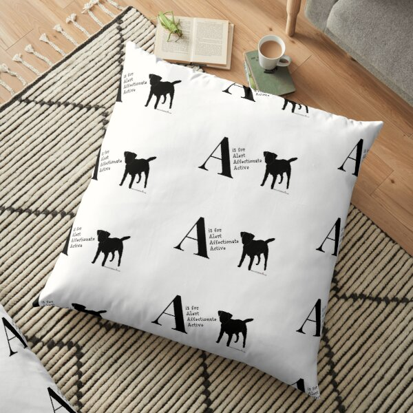 Personalised Border Terrier Gifts for Dog Lovers Letter & Traits Floor Pillow