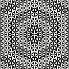 Flower of Life Black White 4 by Cveta
