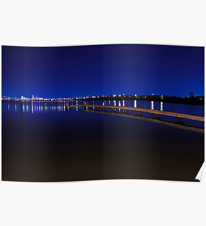 Jetty At Dusk  Poster