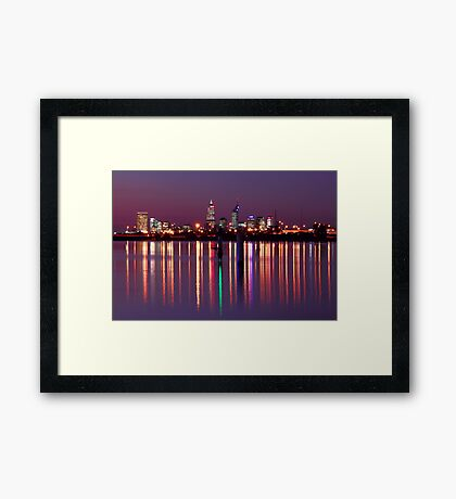 Perth City Reflections  Framed Print
