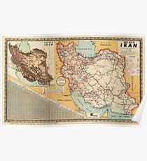 Map Of Iran 1960 Poster