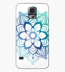 Blue Mandala Case/Skin for Samsung Galaxy