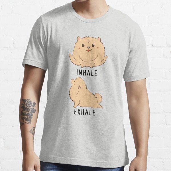 Inhale Exhale Pomeranian Yoga Essential T-Shirt