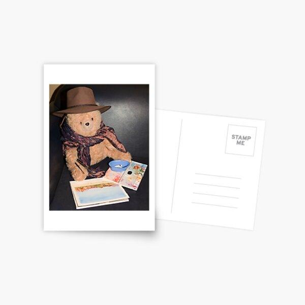 Teddy Bear the Artist Postcard
