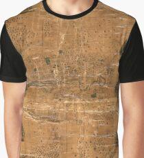 Map Of Jamestown 1856 Graphic T-Shirt