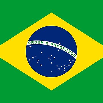 Flag of Brazil - Brasil Bandeira do Brasil A Auriverde by Picturestation