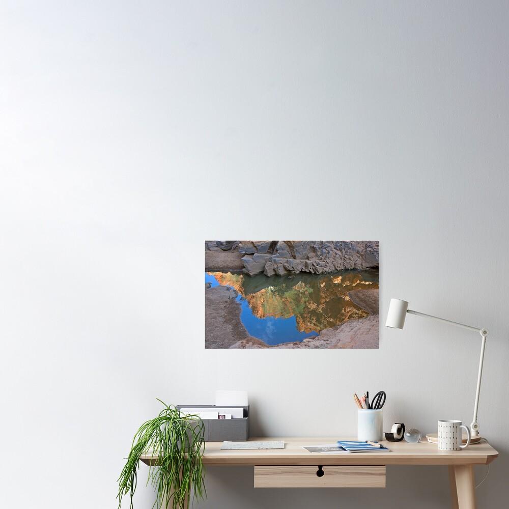 Ormiston Gorge Reflection Poster