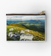 beautiful view of Carpathians in dappled light Studio Pouch