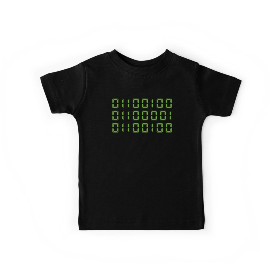 54b4063b Dad In Binary Code Shirt Father's Day Gift