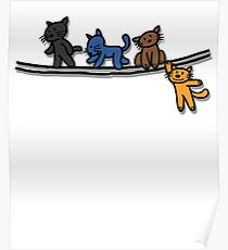 Playing cats Poster