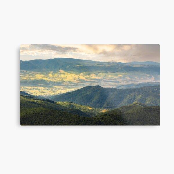 sun lit valley in afternoon Metal Print