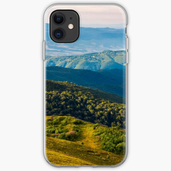 sun lit valley in afternoon iPhone Soft Case