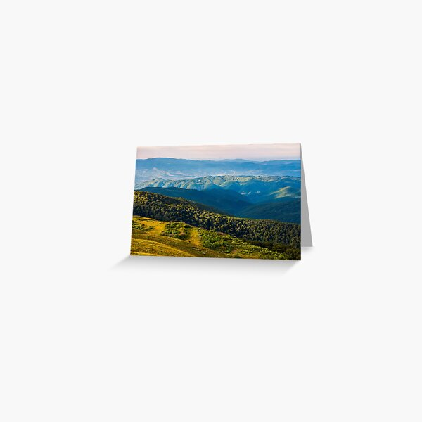 sun lit valley in afternoon Greeting Card