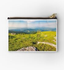 landscape in Carpathian high mountain ridge Studio Pouch