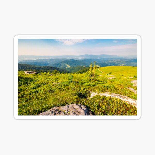 landscape in Carpathian high mountain ridge Sticker