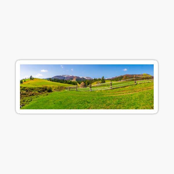 panorama of mountainous rural area Sticker