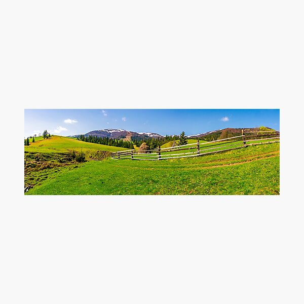 panorama of mountainous rural area Photographic Print