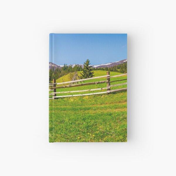 panorama of mountainous rural area Hardcover Journal