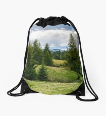 spruce forest on rolling hills Drawstring Bag