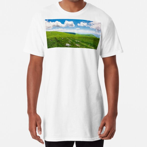 beautiful panoramic mountainous landscape Long T-Shirt
