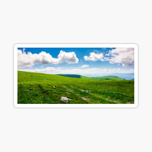 beautiful panoramic mountainous landscape Sticker