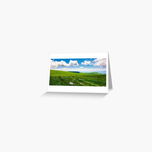 beautiful panoramic mountainous landscape Greeting Card