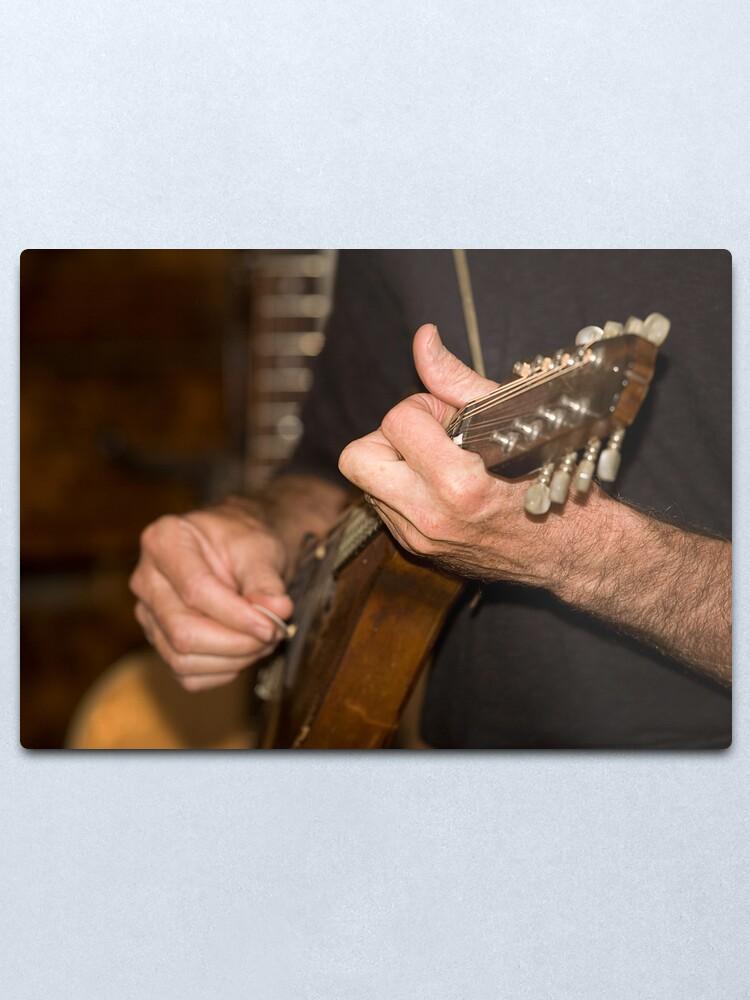 Alternate view of Mandolin Player Metal Print