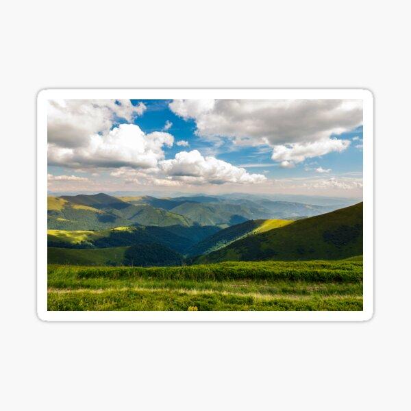 rolling hill of Carpathian mountains Sticker