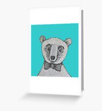 George the Dapper Bear Cub Greeting Card