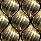 Drehender Tropfen Gold von lathspell