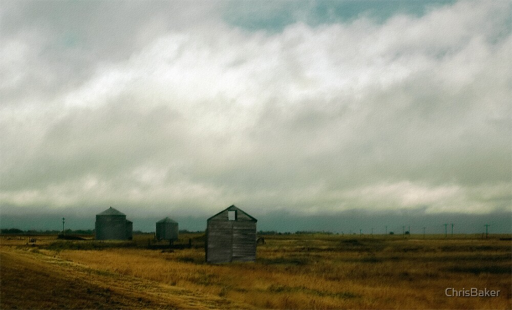 New Mexico Landscape, Silo's and Barn by ChrisBaker