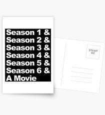 Six Seasons & A Movie Postcards