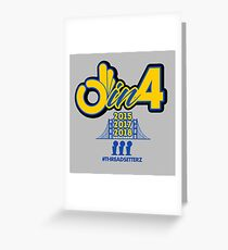 3 in 4 Greeting Card