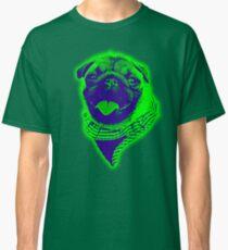 gxp happy pug vector art green Classic T-Shirt