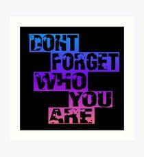 Lámina artística No olvides quién eres
