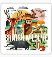 British Wildlife Sticker