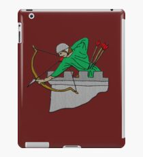 Archer on the Battlement Fantasy Embroidery by Patjila iPad Case/Skin