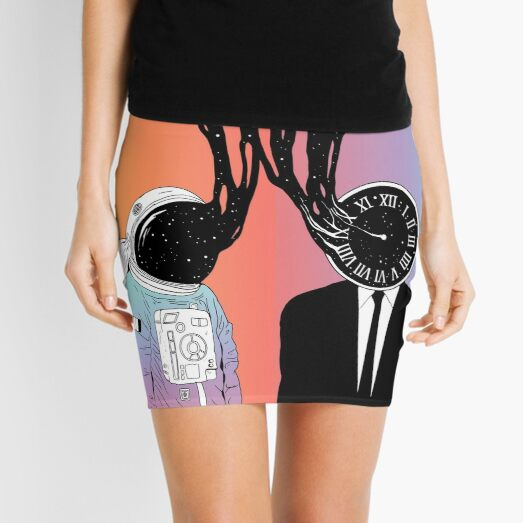A Portrait of Space and Time (A Study of Existence) Mini Skirt