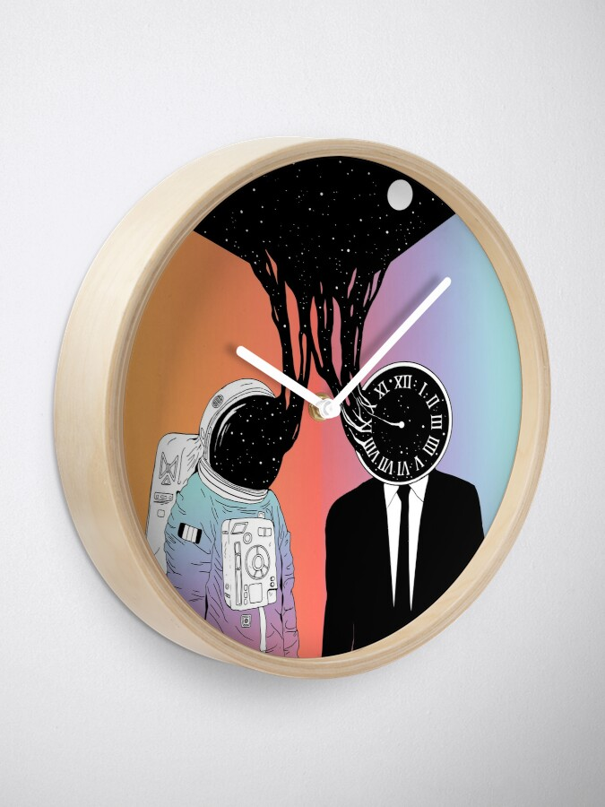 Alternate view of A Portrait of Space and Time (A Study of Existence) Clock