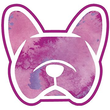 Purple French Bulldog watercolor sticker by smooshfaceutd