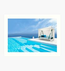 Santorini, Greece Art Print