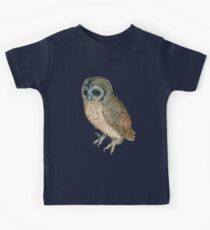 NIGHT OWL ,Antique Animal Drawings Kids Tee