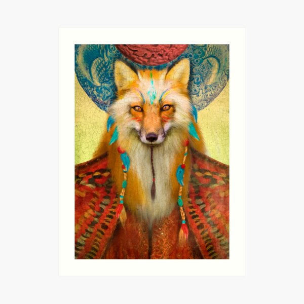 Wise Fox Art Print