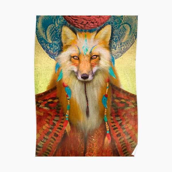 Wise Fox Poster