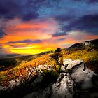 Sunset on Rough Ridge by Miles Moody