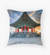 Korean Bell of Friendship Throw Pillow