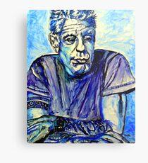 Anthony Bourdain Blue Metal Print