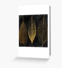 Fallen Gold Autumn Leaves I Greeting Card